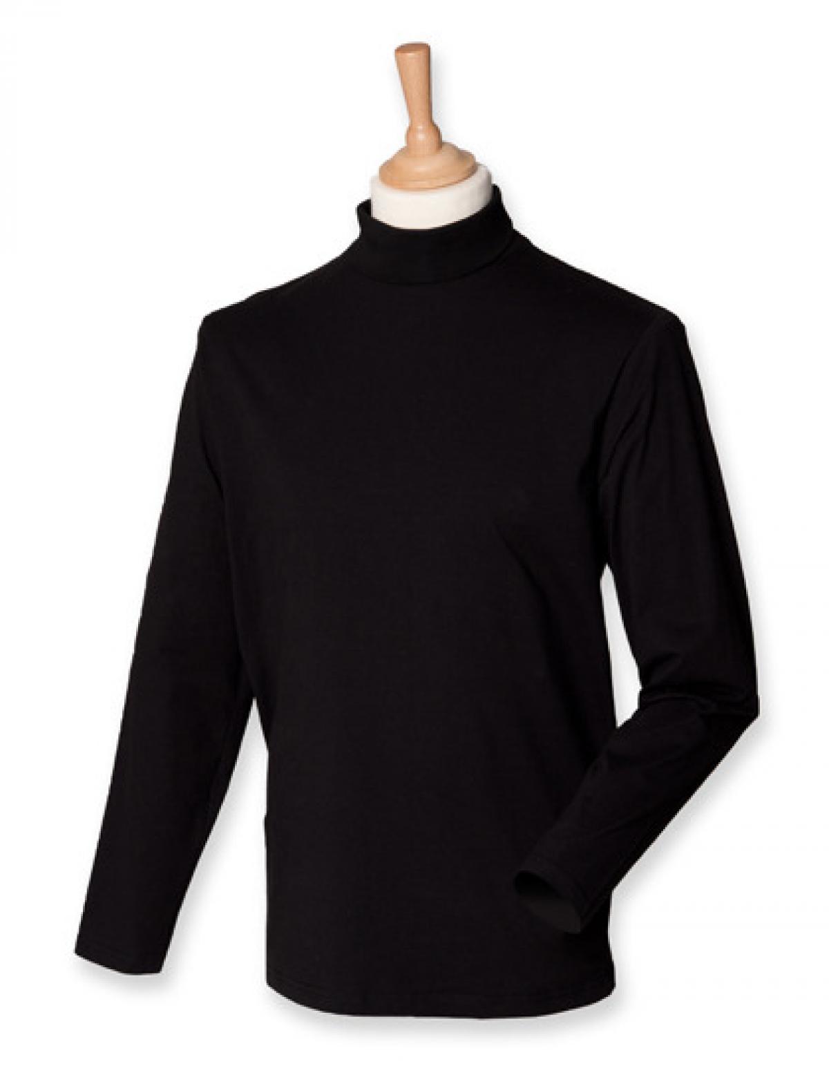 roll neck long sleeve herren t shirt henbury ebay. Black Bedroom Furniture Sets. Home Design Ideas