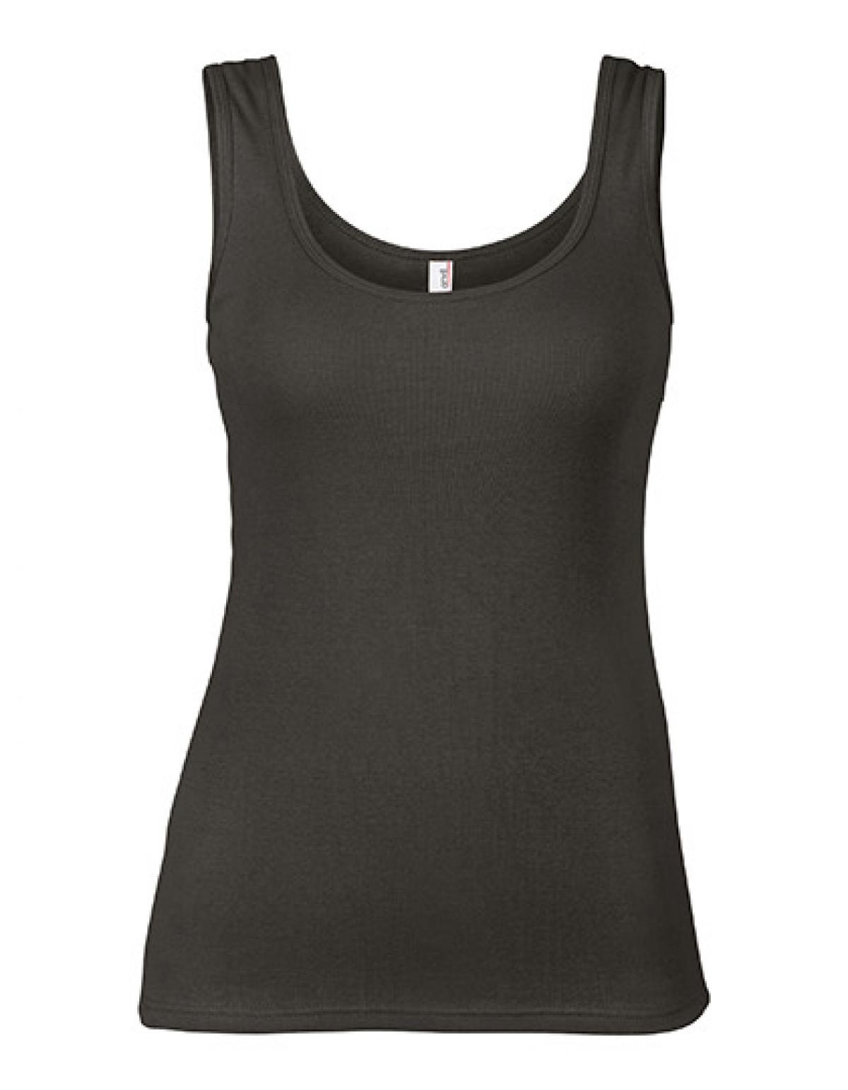 womens 1x1 baby rib tank top damen t shirt anvil ebay. Black Bedroom Furniture Sets. Home Design Ideas