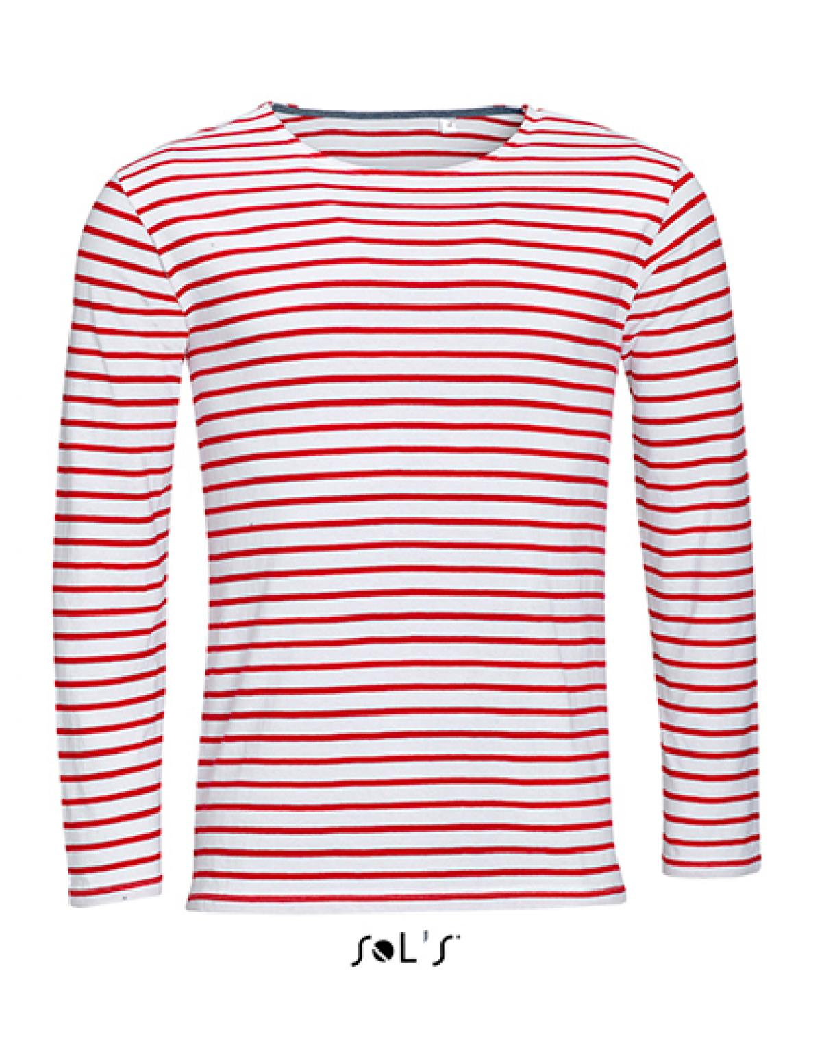 herren longsleeve striped t shirt marine gestreift sols. Black Bedroom Furniture Sets. Home Design Ideas
