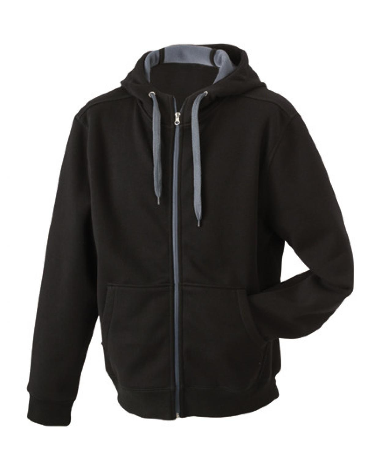 damen doubleface jacket hoodie mit kaputze james nicholson ebay. Black Bedroom Furniture Sets. Home Design Ideas