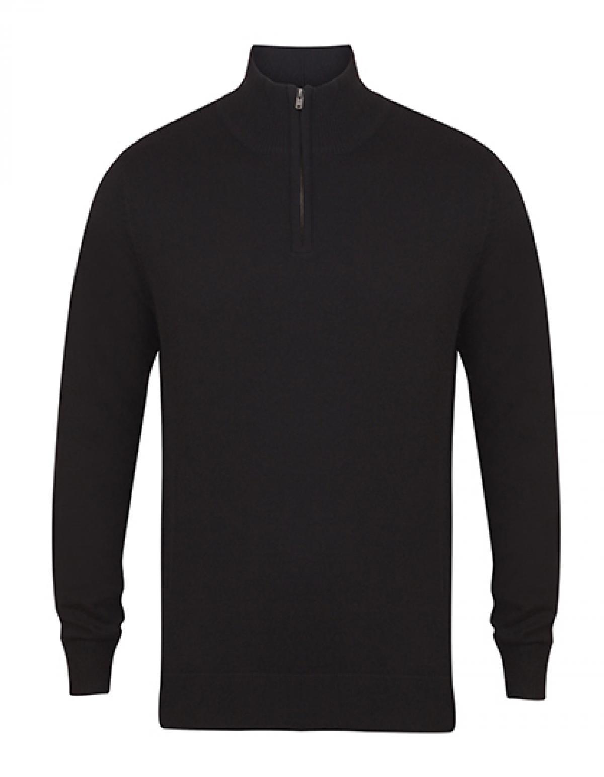 Messieurs Quarter Zip jumper/tricot fin, quart-rei quart-rei fin, verschlu 06f02d