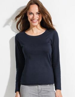 Womens Long Sleeves-T Majestic Damen T-Shirt