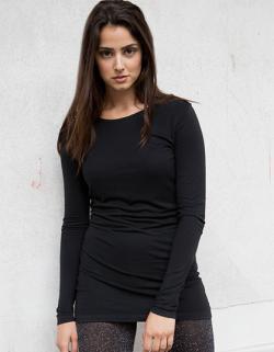 Ladies Long Sleeved Slinky Damen T-Shirt
