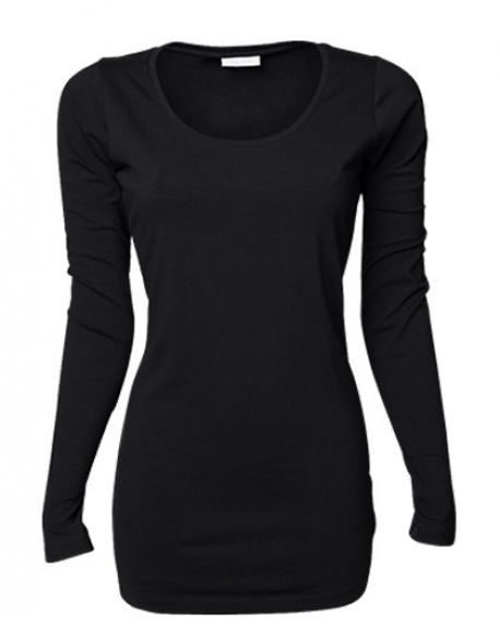 Ladies Stretch Long Sleeve Extra Long Damen T-Shirt