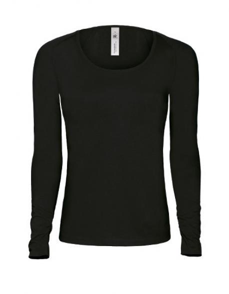 Damen Longsleeve Fashion T-Shirt Pink Classic / Women