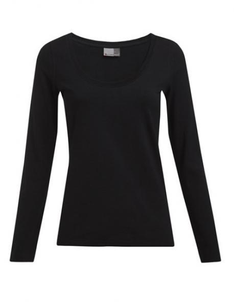 Women´s Slim Fit-T Longsleeve Damen T-Shirt