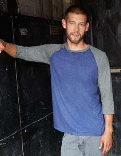 Tri-Blend 3/4 Sleeve Raglan Herren T-Shirt