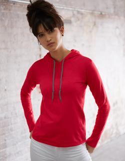 Women´s Fashion Basic Long Sleeve Hooded Tee