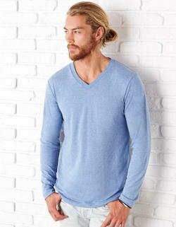 Triblend Long Sleeve V-Neck Herren T-Shirt