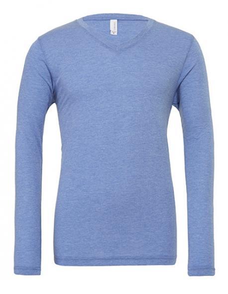 Triblend Long Sleeve V-Neck Herren T-Shirt