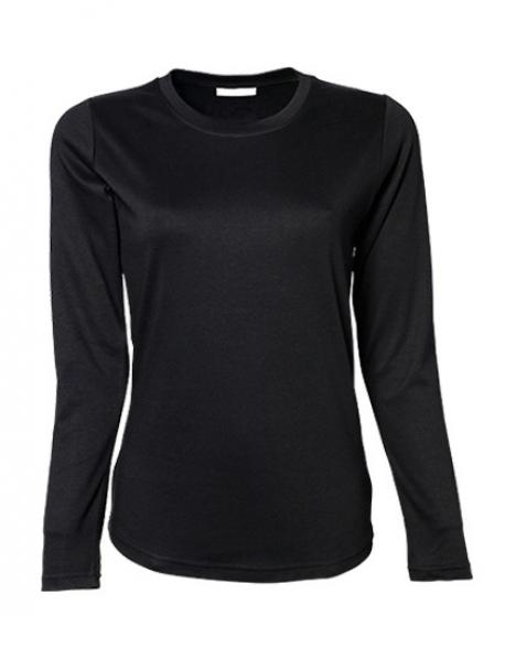 Ladies Longsleeve Interlock Damen T-Shirt