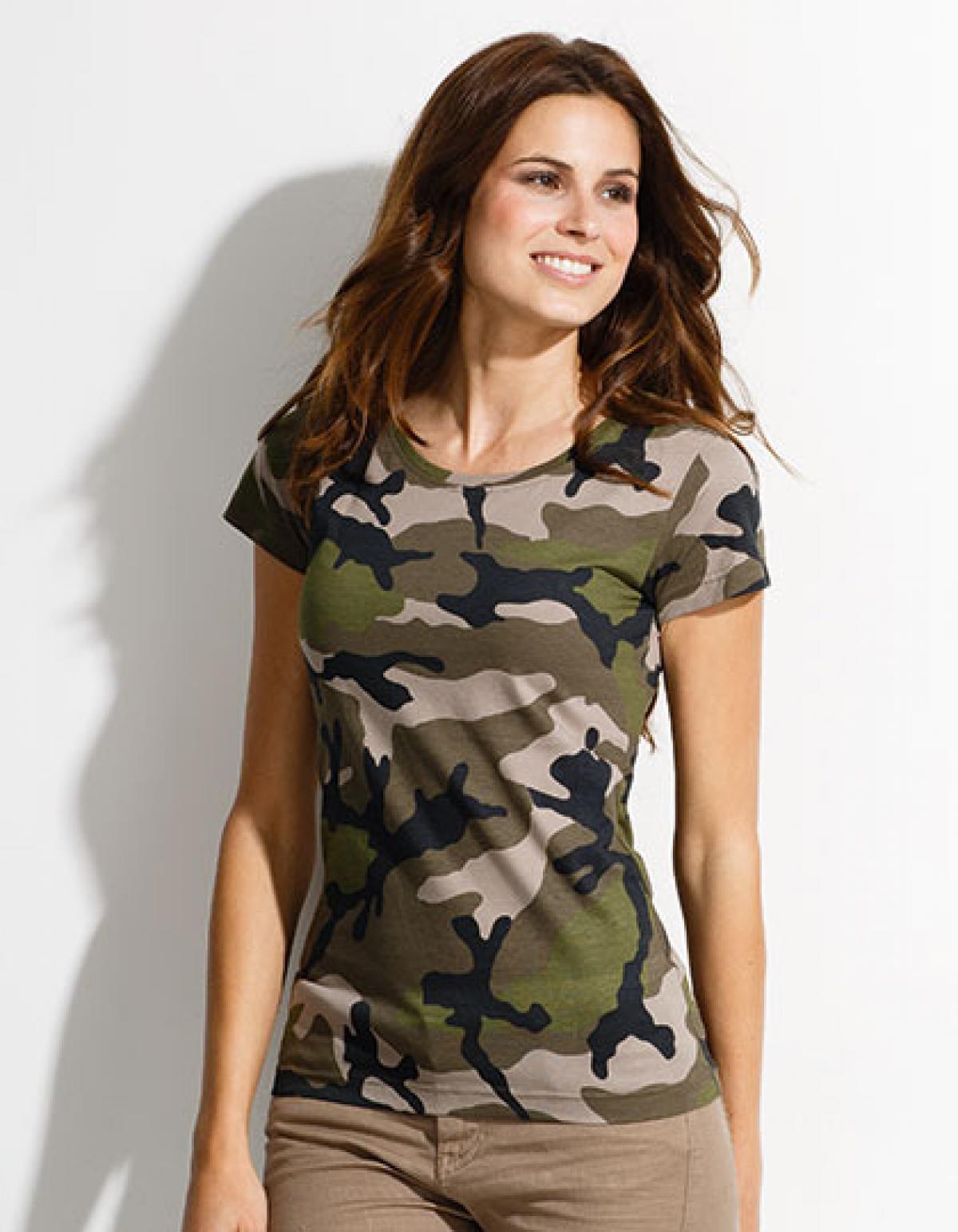 womens camo tarn damen t shirt rexlander s. Black Bedroom Furniture Sets. Home Design Ideas