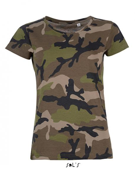 Womens Camo / Tarn Damen T-Shirt