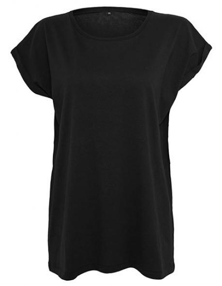 Ladies Extended Shoulder Damen T-Shirt