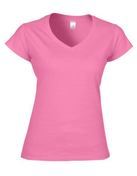 Softstyle Ladies´ V-Neck Damen T-Shirt