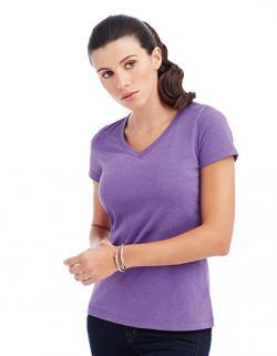 Womens Lisa V-Neck Damen T-Shirt