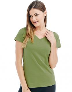 Womens Janet V-Neck Damen T-Shirt