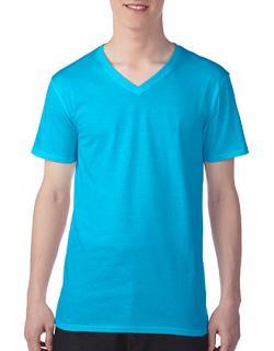 Herren Featherweight V-Neck T-Shirt / Eng anliegend