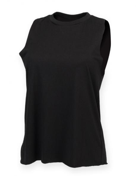 Ladies High Neck Vest Damen T-Shirt
