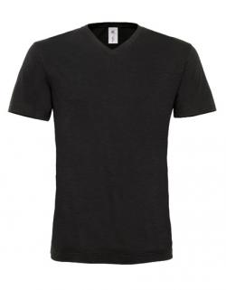 Herren V-Neck T-Shirt Mick Slub / Men
