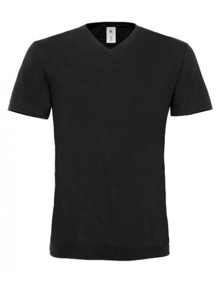 Herren V-Neck T-Shirt Mick Slub / Men