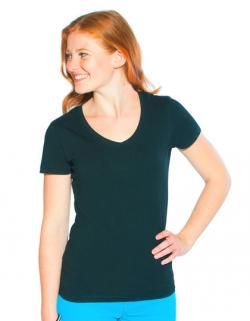 Women s Slim Fit V-Neck Damen T-Shirt