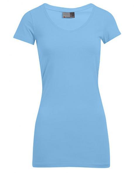 Women´s Slim Fit V-Neck Damen T-Shirt Long