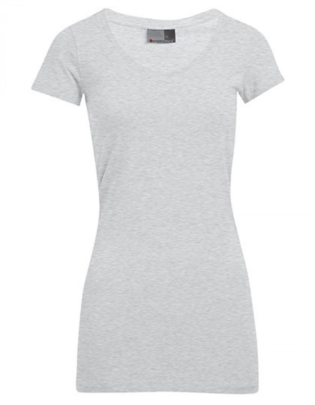841346631f45f0 Women´s Slim Fit V-Neck Damen T-Shirt Long - Rexlander´s