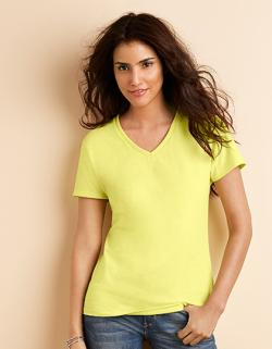 Premium Cotton Ladies V-Neck Damen T-Shirt