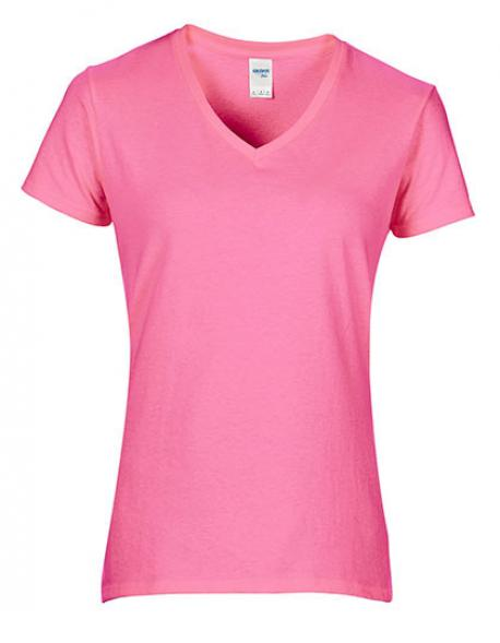 Premium Cotton Ladies V-Neck Damen T-Shirt