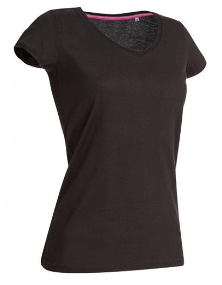 Women V-Neck Megan Damen T-Shirt