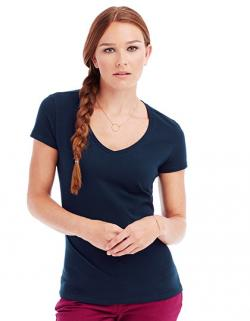 Women V-Neck Claire Damen T-Shirt