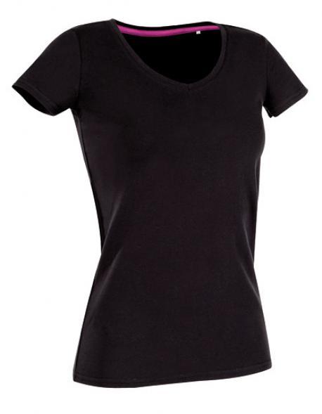 Women V-Neck Claire Damen T-Shirt