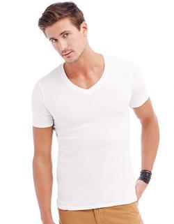 Deep V-Neck Herren T-Shirt Dean