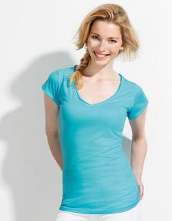 Women s V-Neck Mild Damen T-Shirt