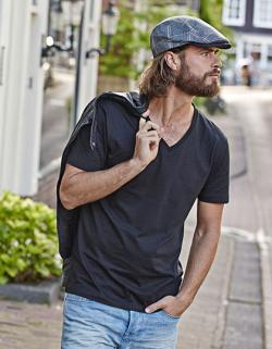 Mens Fashion V-Neck Soft Herren T-Shirt