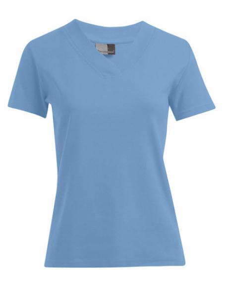 Women´s Rib V-Neck Damen T-Shirt