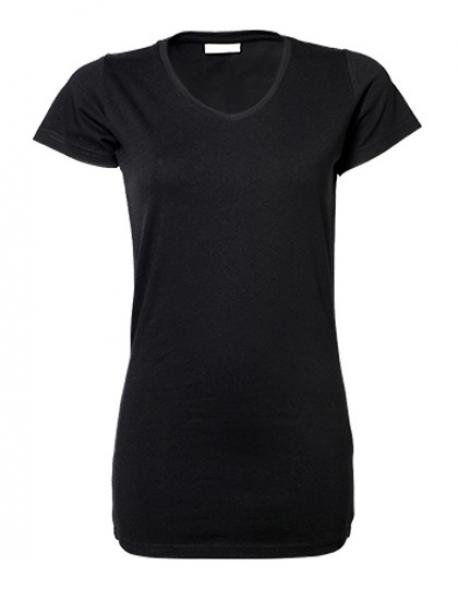 Ladies Stretch Extra Long Damen T-Shirt