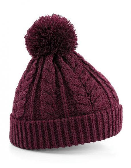 Cable Knit Snowstar Beanie Wintermütze
