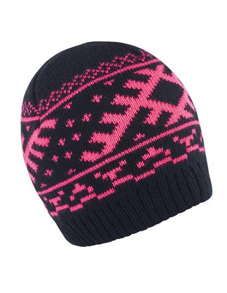 Nordic Knitted Beanie Wintermütze