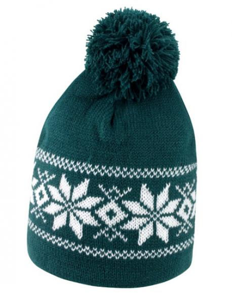 Fair Isle Knitted Hat Wintermütze