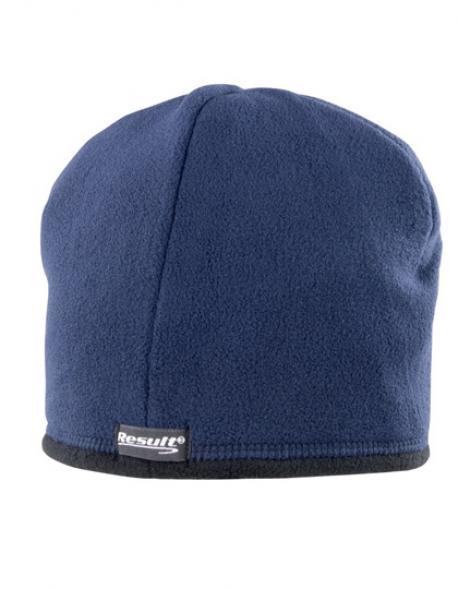Reversible Microfleece Bob Hat Wintermütze