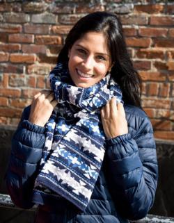 Fair Isle Jacquard Scarf / Damen Winter Schal
