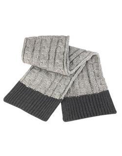 Shades of Grey Knitted Scarf / Damen Winter Schal