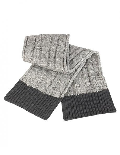 Shades of Grey Knitted Scarf / Damen Winter Schal