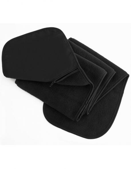 Zip-Pocket Fleece Scarf / Damen Winter Schal