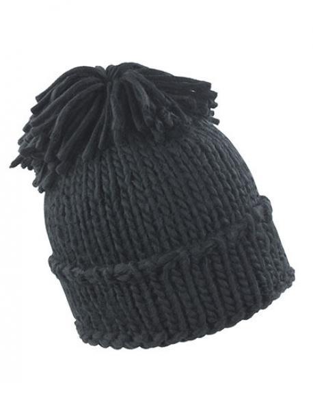 Spider Pom Pom Hat Wintermütze