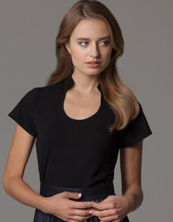 Corporate Top Keyhole Neck Damen T-Shirt
