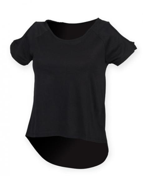 Ladies Drop Tail Damen T-Shirt