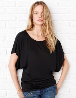 Flowy Drapped Sleeve Dolman Damen T-Shirt